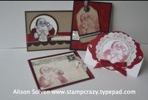 Stampin' Up! Classes - Vancouver, BC / Examples of my Stampin' Up! card classes offered in Vancouver.  Many are also offered by mail in Canada! #stampinup #stampcrazywithalison.ca