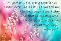 Gratitude / Things to think about before going to bed and upon awakening each day. This can change your life.