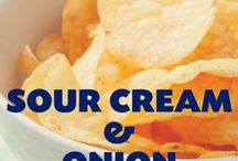 Sour Cream / Inspired by our favorite potato chips, sour cream and onion. The cool, creamy taste of sour cream meets the sing of real onion in our NEW popcorn seasoning