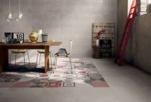 "Ceramic ""Rugs"" / Italian tile companies are softening the look of ceramic floors by offering decorative tiles with bold and intricate patterns that mimic the look of area rugs."