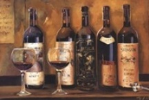 Tuscany Kitchen / I love to decorate in Tuscany wines and grapes.