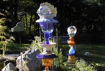 Garden Art - Glass Towers