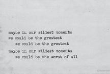 Behind a lyric lies a moment..