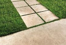 Outdoor Pavers / Perfect for gardens, terraces, and high-traffic outdoor areas, 2cm thick porcelain pavers began trending at Cersaie last year. The idea has spread like wildfire (that's what trends are all about!) thanks to the tiles' grout-free installation, expanding the available aesthetic options for designers and landscape architects.