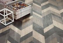 Chevron Chic / Drawing inspiration from an age-old pattern, designers will love dressing up floors and walls with these eye-catching porcelains. From rustic and painted wood looks to resin, brick and stone, Italian companies are producing chevron and herringbone tiles across all scales to create visually striking patterns that are easy to install. #Cersaie2015