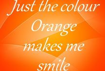 "All things ORANGE / My favorite color.  It makes me happy. ""It looks good on me"" (quote from a good friend) / by Yolanda Kenton"