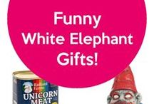 "Funny White Elephant Gifts / Some funny white elephant gift ideas that are sure to be a hit at your next holiday party game of ""Dirty Santa."""