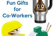 Gifts for Coworkers / Co-workers can be hard to shop for, whether it's the annual Secret Santa swap or for a retirement or going away gift! Here are a few fun gift ideas for coworkers that won't break the bank!