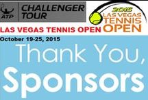 LVTO Sponsers / #LasVegasTennisOpen- We are grateful for all our Generous Sponsors for supporting and sponsoring the #LVTO #ATP Men's Challenger Series on October 19-25, 2015. We couldn't have done it, without your support. Thank You All! Once again for your generous support.