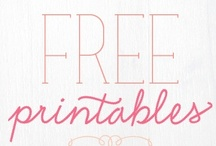 FREE! Printables / Need some help with your parties or holiday celebrations but lack the creativity or software? Here are some FREE party printables, by talented and sought after designers, to get you started. Its as simple as a pair of scissors or buying a hole punch at the craft store.
