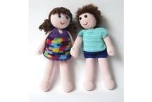 gehaakte poppen en knuffels