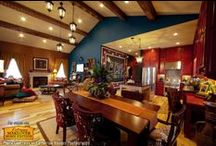 Design Ideas - Great Room / Faux wood beams accenting great rooms, living room/dining room combinations and kitchen/living room combos. / by Faux Wood Beams