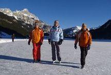 Eislaufen / Spaß auf dem Eis des Haldensees