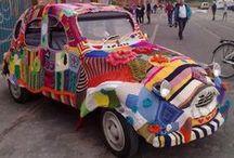 Knitting - Yarnbombing Makes the World Go 'Round / Yarnbomb, Guerilla Knitting / by Mimi