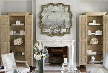 Weathered / A fascination with vintage continues to inspire decor.  Weathered woods and linens mixed with English prints, velvets and rich wovens.  Antiqued mirrors and antique treasures....