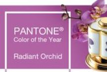 Radiant Orchid: Pantone's Color of the Year / Per Leatrice Eiseman, executive director of the Pantone Color Institute...Radiant Orchid complements olive and deeper hunter greens, and offers a gorgeous combination when paired with tourquise, teal, and even light yellows.  It livens up neutrals such as gray, beige, and taupe.
