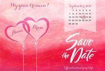 Save the date kaarten / Mooie Save the date kaarten, passend bij jullie trouwkaart. In dezelfde stijl zijn er ook bedankkaarten, menukaarten en tafelkaarten beschikbaar.