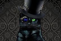 Steampunk Cats / Because cats in top hats...what could be better?