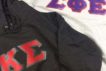 Greek Apparel / If you don't see your group give us a call. We custom make all of our clothes so getting your letters won't be a problem!