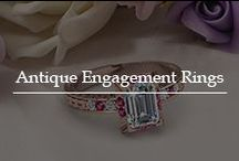 Antique Engagement Rings / Catch a glimpse of the vintage inspired engagement rings embedded with opulent gemstones and diamonds in traditional patterns.