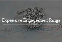 Expensive Engagement Rings / Have the feel of excellence with expensive engagement rings in fine designs created with premium quality diamonds in flawless metals with perfect setting.