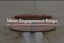 Mens Engagement Rings / Behold the colossal collection of mens engagement rings crafted with elegance and sophistication in designs welded in fine, sleek metals.