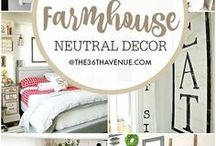 Trending Home Decor / Farmhouse, a little modern chic, Fresh home decor ideas, tips, and inspiration! Decor trends on a budget... or dream home- AND everything in between :) decor | home decor | decorating | decorating ideas | decorating tricks | interiors | interior decorating | interior design | design | home | kitchen decor | bedroom decor | kids bedroom decor | bathroom decor | entry decor | dining room decor | home office decor | styling