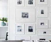 Home Decorating Ideas / The kinds of home decor ideas that inspire my own style!  Black and white colors schemes, minimalism, modern design, the best tips for picture arrangements!