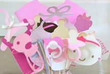 "Baby Shower Ideas / I'm planning my sister's baby shower, she's due in Oct/Nov!! MUST HAVES: Photo booth with fun props, fresh flower centerpieces and beautiful dessert table with homemade treats!  My favorite themes for a BOY are: ""little man"" mustaches, airplanes (transportation), hot air balloons, under the sea (nautical), and elephants.  Favorite themes for girls: pink and gold, ballerina, teatime, hot air balloons, birds, and French poodle! / by My Momma Told Me  