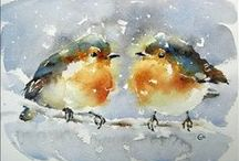 Birdies / by Amy Woods Watercolors