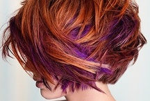 Hair & Beauty / Wild & woolly hair colors & cuts -- especially neon highlights and bold greys & silvers.  I'm loving the pink, blue and purple shades, and how women are embracing their natural grey w/ ageless edgy styles. Plus cool nail & make-up tips.  / by Marianne Costantinou