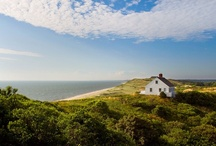 Truro Cape Cod / The small rural community of Truro is known for its wild, natural beauty, dramatic sandy cliffs, and prehistoric kettle holes. Its beaches are unsurpassed. Truro is so narrow that from the top of a dune, it is possible to see the ocean on one side and the bay on the other.