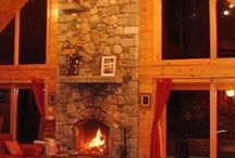"""Cozy Fireplaces / The recent chilly weather on Cape Cod and the Islands has made me want to cozy up next to a roaring fire with a hot drink and a good book. Come experience Cape Cod, Nantucket or Martha's Vineyard in the winter. Be sure to book a vacation rental with a fireplace so you can """"get cozy""""."""