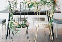 Chair decor... Styled / Wedding chairs