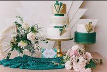 Art Deco Wedding Inspiration / 1920s Art Deco Wedding Style. Emerald, Gold, Champagne, Blush and rich cream tones.... Ahh Love it all...!