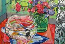 """2015 Exhibit at CCA / A group of mostly still life paintings for the art exhibit """"On the Table"""" by Polly Jones."""
