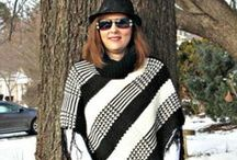 Poncho Outfits- Over 40 Fashion