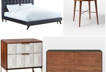 Bedroom Sweet / Sweet bedroom suites!  All individual items have the current price (some items on sale right now) in the description. Price listed for beds is King size unless otherwise noted.  Combo images show my fave picks for a bed, dresser, and 2 nightstand options (choose just 1 though).