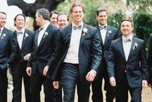 Grooms +  Groomsmen / Wedding fashion for stylish grooms, groomsmen, father-of-the-bride, wedding guests and more. #grooms #weddings