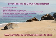 Yoga Travel / Travel to exciting places around the world with a group of like minded friends.  Practice yoga, adventure, relax, and renew. http://namastacey.com/