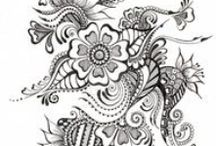 Doodles / So I found some black and white stuff to color in. Don't judge me lol / by Tiffany Marie