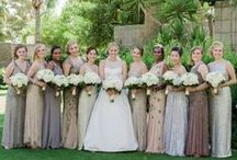 *Bridesmaids / Bridesmaid dresses, bouquets, and hair ideas