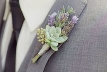 Groom Attire, Boutonniere Ideas + Groomsmen Inspiration / A collection of stylish groom attire, stunning boutonniere ideas and awesome groomsmen attire ideas.