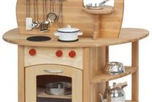 Play kitchens / Every kid need an eco-friendly play kitchen for imaginative play.
