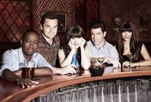 Cast Gallery / New Girl stars Zooey Deschanel as Jess, Max Greenfield as Schmidt, Jake Johnson as Nick, Hannah Simone as Cece, and Lamorne Morris as Winston. / by New Girl