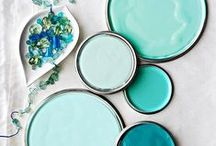 Dream colors / Soothing (and once in a while eye-popping) home color schemes I love.