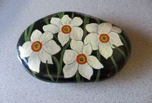 My Hand Painted Rocks / Everyone should have a hobby...I love mine :)