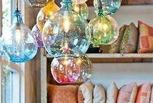 Dream lighting / Dreamy, twinkling, bright home lighting ideas.