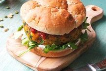 Veggie burgers / Vegetarian burgers and sandwiches plus some pockets and such.