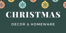 Christmas Decor and Homeware / A collection of family friendly decor and homeware ideas for Christmas both modern and traditional.